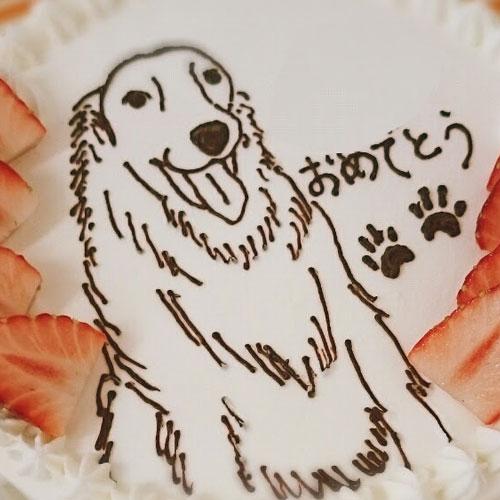 <br /> 来年の干支 犬のイラストケーキ